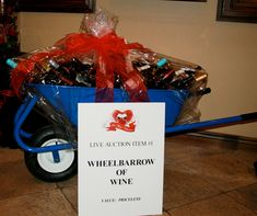 Why yes, that is a wheelbarrow of wine!  It's up for auction at Be Wine Valentine tomorrow night, a fundraiser for the Builders Association Charity. http://www.bewinevalentine.com/