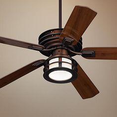 """52"""" Casa Vieja Mission II Bronze Outdoor Ceiling Fan"""