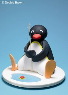 Children's Character Cakes - Pingu - For all your cake decorating supplies, please visit craftcompany.co.uk