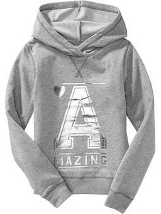 Shiny-Graphic Pullover Hoodie | Old Navy