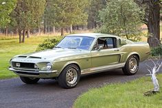 1968 Shelby GT500KR Lime Fastback For Sale Front