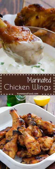 Marinated Chicken Wings - Marinated chicken wings, simply delicious and tasty dish which give the other dimension of preparing chicken wings!