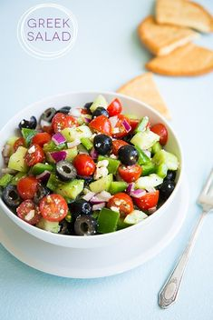 Greek Salad - cucumbers, grape tomatoes, olives, red onion,  feta, bell pepper and lemon dill vinaigrette.