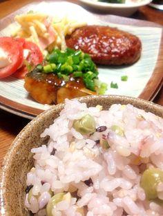 鯖が無く、鰆があったので…似てるしいいか←と味噌煮に。 - 12件のもぐもぐ - 豆ご飯と鰆の味噌煮 by berry116