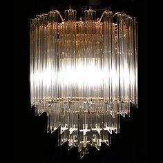 1970's Murano Venini Crystal Chandelier 13126