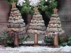 Primitive Christmas Yo Yo Trees 3 Sizes by oodlekadoodlePrim, $6.99
