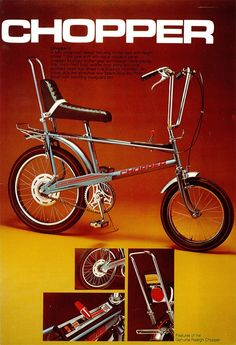 The Genuine Raleigh Chopper had rear suspension springs, 1970s
