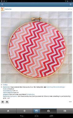 thekitschen on instagram - chevron cross stitch