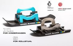 """WHEELBLADES"": MOBILITY ON YOUR WHEELCHAIR,  EVEN IN WINTER, OVER SNOW AND ICE. ;)......<3"