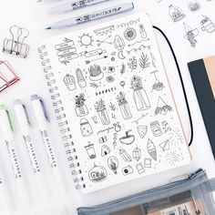 Find images and videos about notes, doodles и bullet journal on we heart it Bullet Journal Vidéo, Bullet Journal Layout, Foto Doodle, Doodle Art, Doodle Inspiration, Bullet Journal Inspiration, Ideas Collage, Art Tumblr, Bujo Doodles
