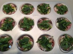 Variant eiermuffins - Daan's Koolhydraatarme Recepten Quiche, Spinach, Pizza, Vegetables, Recipes, Food, Meal, Food Recipes, Essen