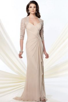 Trumpet/Mermaid Straps Sweep/Brush Train Chiffon Fabric Mother of the Bride Dresses with Lace Ruched Style m50587