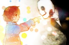 Undertale - Frisk and W.D. Gaster by Noah