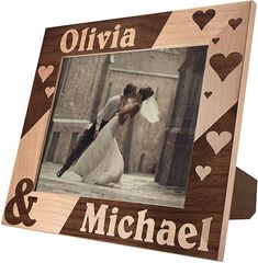 Multi Picture Frames, Wedding Picture Frames, Wedding Pictures, Simple Gifts, Great Gifts, Infinity Pictures, Engraved Frames, Personalized Picture Frames, Laser Engraving