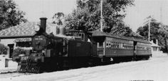 a Kurrajong bound passenger train trundles along March Street, Richmond, NSW. This was probably 'Pansy'.