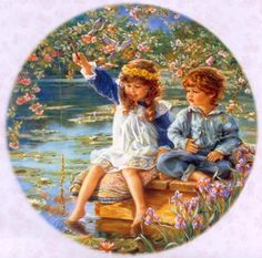 Beautiful Paintings of Cute Kids by Sandra Kuck Paintings I Love, Beautiful Paintings, Best Artist, Illustrations, American Artists, Vintage Children, Pretty Pictures, Love Art, Vintage Art