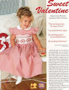 #105 Mar/Apr 06 - Sweet Valentine Smocked Dress