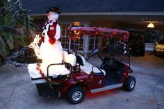 "Learn even more details on ""Golf Cart"". Look into our website. Christmas Parade Floats, Christmas In July, Christmas Crafts, Christmas Decorations, Custom Golf Cart Bodies, Custom Golf Carts, Redneck Christmas, Golf Cards, Festival Lights"