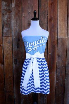 Kansas City Royals Strapless Game Day Dress by jillbenimble, $55.00