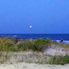 Cool moon over Ocean City