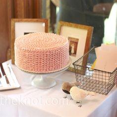 Ruffled buttercream cake