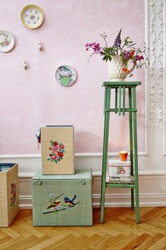 A drop of nostalgia, a world of prettiness and a colourful palette will give your rooms some homespun charm