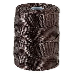 Thread, C-Lon�, nylon, chocolate, 0.5mm diameter. Sold per 92-yard bobbin.