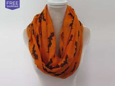 Halloween Infinity Scarves - 2 Color Options $11.99(52% off) Exp:Oct/22/2015