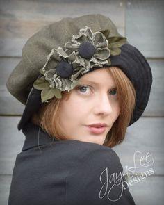 Black Oliver Wide Brim Cloche Hat by Jaya-Lee Designs. #goth #widebrimhat #clochehat