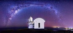 Panorama, the Milky Way and the Lighthouse.