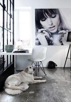 scrivania e una maxi foto