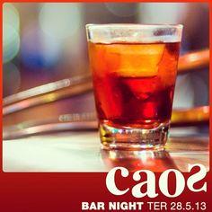 Hoje tem #BAR NIGHT com drinques, comidas e trilha sonora selecionada pelo #Caos. Entrada grátis.