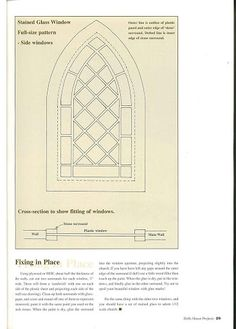 Stained glass window tutorial