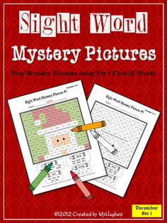 Get ready for some holiday fun with my Sight Word Mystery Pictures DECEMBER SET #1 of 4. Your students will love coloring these all new holiday themed mystery pictures.    Each of the four pictures includes a mix of the first 50 words from Fry's Instant Word List, making this the perfect review set for students progressing through their sight words (or a fun and engaging review for your more advanced readers). ($)