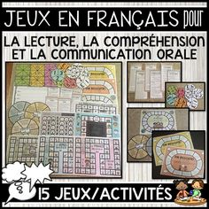 This file includes a variety of FRENCH ORAL COMMUNICATION, READING AND READING COMPREHENSION BOARD GAMES/ACTIVITIES to reinforce speaking in French. The package includes 15 games/activities. Some of the games are better suited to be played in pairs, although many of them can also be completed individually or included in your Literacy Centers. Included in the package is also a white background option if you are looking to save on ink.