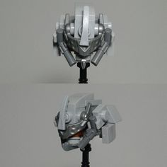 Head study. This knight-inspired piece took almost 3 hours of trial and error to build. #lego #legomocs #mech #afol #originalbuild