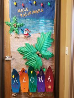 Santa At Pensacola Beach Christmas Door Contest 2013