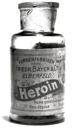 Bayer Heroin - 1898-1910's - by Friedr. Bayer & Co. Elberfeld, Germany - Diacetylmorphine was marketed under the trademark name Heroin as a non-addictive morphine substitute and cough suppressant - @~ Mlle