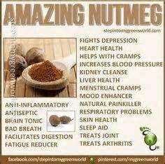 nutmeg, benefits of
