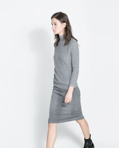 ZARA - WOMAN - FINE CHECKED KNITTED SWEATER