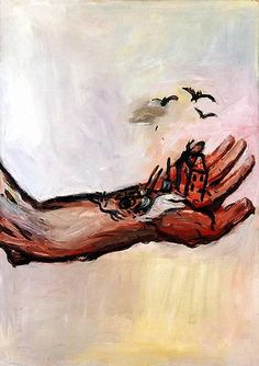 Baselitz, The Hand - The Hand of God (Die Hand - Die Hand Grottes) 1964-65