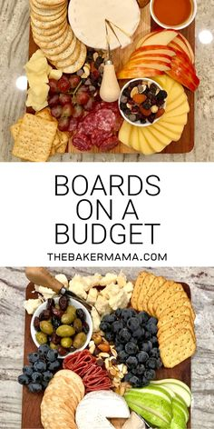 Boards on a Budget Boards on a Budget The BakerMama Maegan Brown thebakermama The BakerMama Recipes Building a great cheese board doesn t have nbsp hellip Charcuterie Recipes, Charcuterie And Cheese Board, Charcuterie Platter, Cheese Boards, Snack Platter, Party Food Platters, Cheese Platters, Cheese Party Trays, Simple Cheese Platter