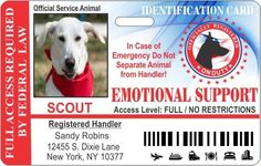 Emotional Service Dog Horizontal Badge ID -- Learn more by visiting the image link. (This is an affiliate link and I receive a commission for the sales) Dog Tags Pet, Cat Id Tags, Nursing Supplies, Cat Training Pads, Cat Shedding, Cat Fleas, Cat Grooming, Cat Collars, Service Dogs
