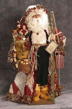 I ❤ crazy quilting & embroidery . . . Crazy Quilt Santa 2