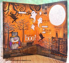 Spooky layout by Kath for the Simon Says Stamp Monday challenge blog!