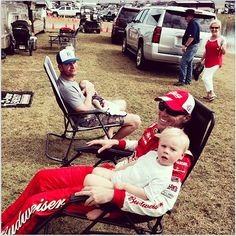 Kevin Harvick and son Keelan/ Clint Bowyer and son Cash/  November 2014/  Sprint Cup Drivers/ NASCAR Drivers