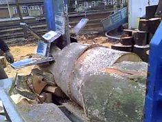 Łuparka do drewna pozioma Splitmaster 35 Spezial Posch - YouTube
