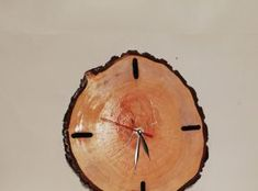 Lucrari din lemn - Ceas Slice of wood Wood Work, Clock, Woodworking, Wall, Home Decor, Watch, Decoration Home, Room Decor, Joinery