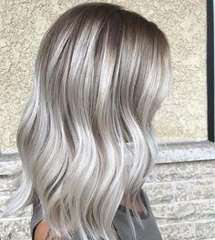 Cool ash blonde balayage