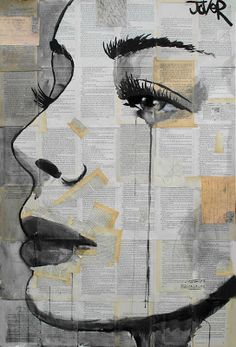 Postcards and Dreams - Artwork by Loui Jover - Inspired poetry by T.A. Johnson... Postcards and dreams of days between... and love falls from the eye... distance seems is all that's seen... the space 'tween you and I